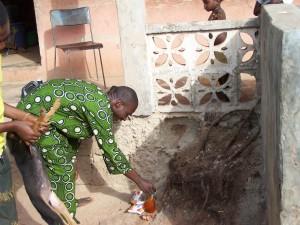 Feeding Ogun at Oketase